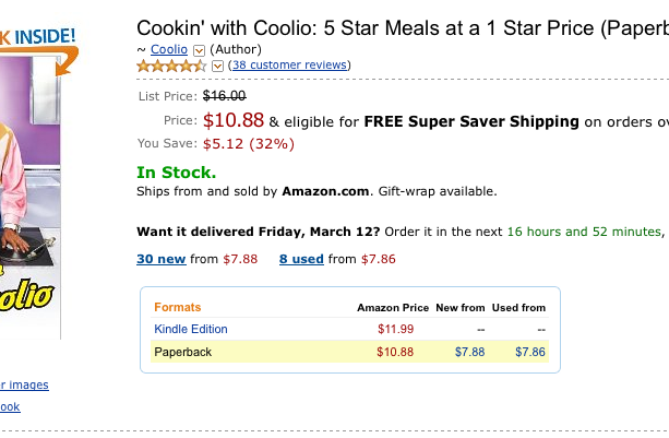 The Amazon product page makes accurate delivery times a really prominent point