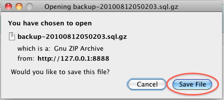 Always download your backups locally